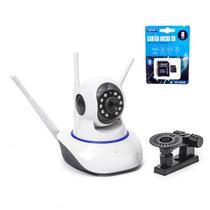 Kit Câmera IP Wifi 3 Antenas 1080P Full Hd + Cartão de Memória 8GB com Adaptador - Outros