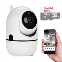 Kit Câmera IP Wifi  HD 960P com Áudio e Cartão 16GB - Acompanha movimento de pessoa no local - Outros