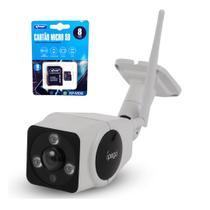 Kit Câmera IP Wifi HD sem fio externa + Cartão de memória 8GB com Adaptador - Outros