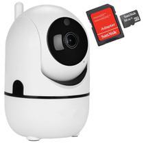 Kit Câmera IP Wifi Varredura Automática HD 960p Com áudio e cartão de 32gb - Outros