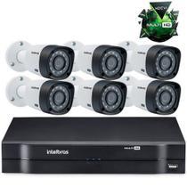 Kit Câmeras De Segurança Intelbras Dvr 8c + 6 Câmeras 1010 - DUO