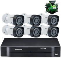 Kit Câmeras de segurança Intelbras MultiHD Dvr 8c + 6 câmeras 1010B G4 -