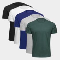 Kit Camiseta Básica c/ 5 Peças Masculina - Básicos