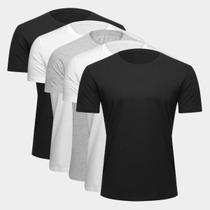 Kit Camiseta Básica c/ 5 Peças Masculinas - Costão Fashion Style