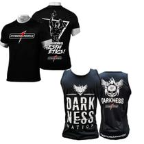 Kit Camiseta Preta Integralmedica + Regata darkness - Integral medica