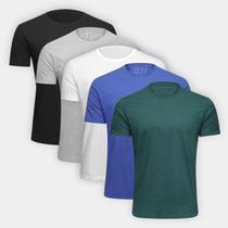 Kit Camiseta Ultimato Básica 5 Peças Masculina -