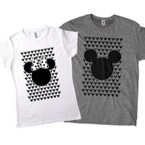 kit camisetas engracadas para casal mickey minnie - Lojadacamisa