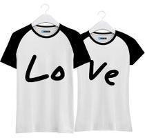 Kit Camisetas Love - Casal De Namorados Amigos Combinando - Loja Bobkin