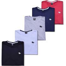 Kit Camisetas Masculinas Básicas 5 Cores Polo RG518 -
