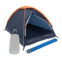 Kit Camping Barraca Panda para 3 Pessoas + Lampião Lanterna Led + Sinalizador Signal - Nautika