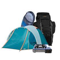 Kit Camping NTK Barraca Mochila Fogareiro Saco de Dormir - Nautika