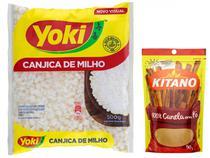 Kit Canela em Pó Kitano 50g + Canjica de Milho  - Branca Tipo 1 Yoki 500g
