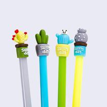 Kit caneta gel cacto - 5un - Import