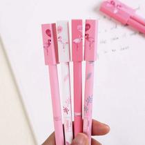 Kit Caneta Gel Flamingo Tropical Divertida - Import