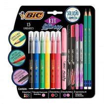 Kit Caneta Hidrografica Intensity Brush Pens 13 UN Bic -