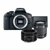 Kit Canon T6i + 18-55mm IS STM + 50mm f/1.8 STM