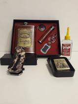 Kit Cantil de Bolso e Isqueiro Metal com Canivete Camuflado - Zippo