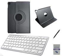 "Kit Capa 360/Can/Pel/Teclado Branco iPad Air 3 2019 - 10.5"" Preto - Global Cases"