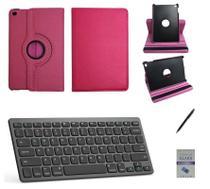 """Kit Capa 360/Can/Pel/Teclado iPad 6 geração 9,7 """" Rosa - Global Cases"""