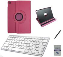 "Kit Capa 360/Can/Pel/Teclado iPad Air 3 2019 - 10.5"" Rosa - Global Cases"