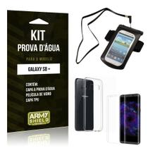 Kit Capa a prova d'agua Samsung Galaxy S8 Plus  Película de Vidro + Tpu + Capa a prova d'agua - Armyshield -