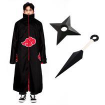 Kit Capa Akatsuki Kunai Shuriken Naruto Cosplay Itachi Manto - Panda Nerd