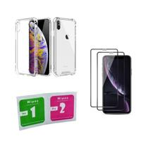 Kit Capa Anti Impacto Iphone XS Max + 2 Pel. de Vidro 3D - Yellow Cell