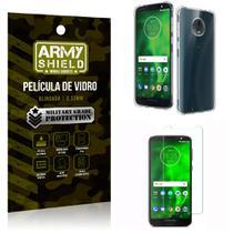 Kit Capa Anti Impacto + Película de Vidro Motorola Moto G6 PLUS - Armyshield -