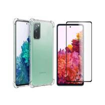 Kit Capa Anti Impacto + Pelicula De Vidro para Samsung Galaxy S20 Fe - Yellow Cell