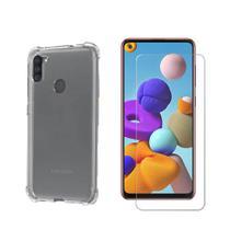 Kit Capa Anti Impacto Samsung Galaxy A11 + Película De Vidro -
