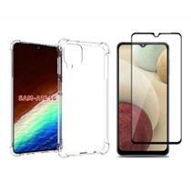 Kit Capa Anti Impacto Samsung Galaxy A12 + 2 Pel. de Vidro 9D -