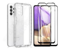 Kit Capa Anti Impacto Samsung Galaxy A32 4G + Película Vidro 3D -