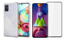 Kit Capa Anti Impacto Samsung Galaxy M51 + Película Vidro 3D -