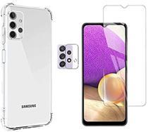 Kit Capa Anti Queda Samsung Galaxy A32 4G + Pelicula Vidro + Pelicula Camera - C7COMPANY