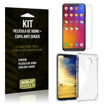 Kit Capa Anti Shock Motorola Moto G7 Play Capa Anti Shock + Película de Vidro - Armyshield -