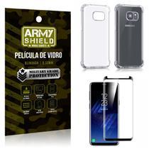 Kit Capa Anti Shock + Película Vidro Curva Premium Samsung Galaxy S8 - Armyshield -