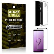 Kit Capa Anti Shock + Película Vidro Curva Premium Samsung Galaxy S9 - Armyshield -