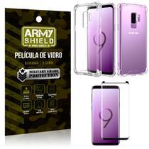 Kit Capa Anti Shock + Película Vidro Curva Premium Samsung Galaxy S9 PLUS - Armyshield -