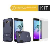 Kit Capa Armor e Pelicula Coverage Branca para Galaxy A7 2017 - Gorila Shield -