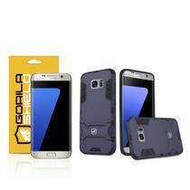 Kit Capa Armor e Pelicula de Nano Gel dupla para Samsung Galaxy  S7 Edge - Gorila Shield -