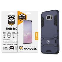 Kit Capa Armor e Pelicula de Nano Gel dupla para Samsung Galaxy  S7 Edge - Gshield -