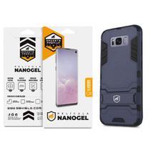 Kit Capa Armor e Pelicula de Nano Gel dupla para Samsung Galaxy S8 Plus - Gshield (Cobre toda tela) -