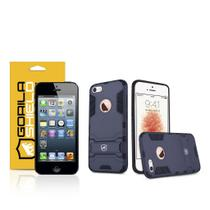 Kit Capa Armor e Pelicula de vidro dupla para Iphone 5, 5s, 5c, SE - Gorila Shield -