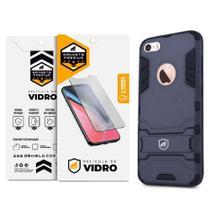 Kit Capa Armor e Pelicula de Vidro Dupla para Iphone 5, 5s, 5c, SE - Gshield - Apple