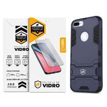 Kit Capa Armor e Pelicula de Vidro Dupla para Iphone 7 Plus - Gshield - Apple