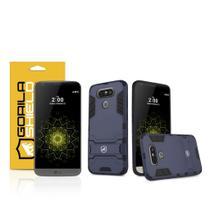 Kit Capa Armor e Pelicula de vidro dupla para LG G5  - Gorila Shield -