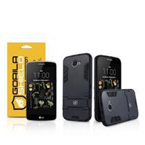 Kit Capa Armor e Pelicula de vidro dupla para LG K5 - Gorila Shield -