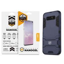 Kit Capa Armor e Pelicula Nano Gel Dupla para Samsung Galaxy Note 8 - Gshield -