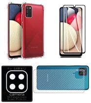 Kit Capa Capinha + Película 3d + Pel Traseira + pl Camera Samsung Galaxy A12 - C7COMPANY