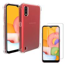 Kit Capa Case Galaxy A01 Anti Shock + Película de Gel - Jfo.Comercio